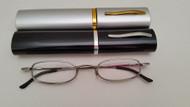 SD Tube Reading Glasses / Silver-Gunmetal