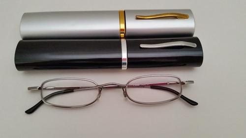 SD Tube Reading Glasses / Silver-Gunmetal SILVER/GUNMETA;