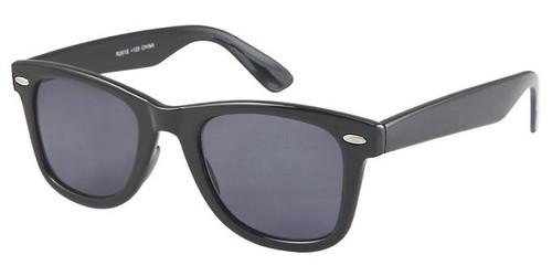 Wayfarer Style Full Sun Reading Glasses / Black