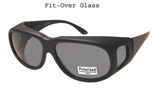 Over the glasses Polarized Sunglasses Black/Large