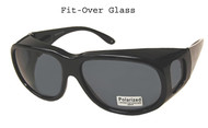 Over glasses polarized sunglasses/XL smoke lenses