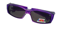 purple fit over polarized sunglasses