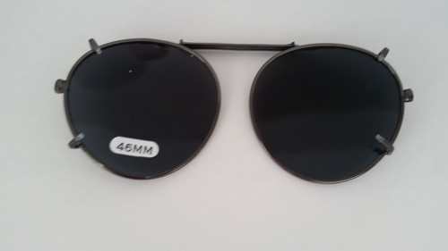 round polarized clipOn sunglasses smoke 46mm