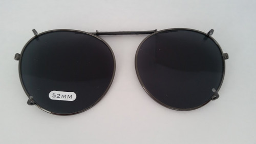 round polarized clipOn sunglasses 52mm