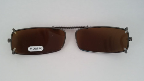 small rectangular polarized clipon amber 52mm