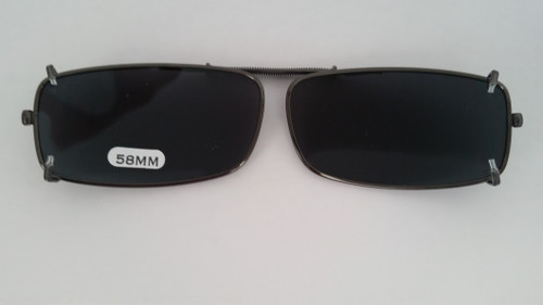 small rectangular polarized clip on sunglasses