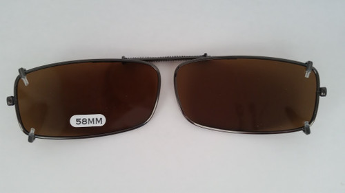 small rectangular polarized clip on 58mm