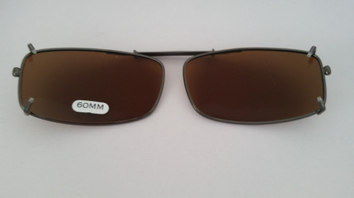 small rectangular clip on sunglasses 60mm