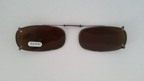 small oblong clip on sunglasses polarized 52mm