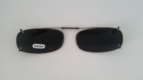 small oblong adjustable clip-on polarized 54mm