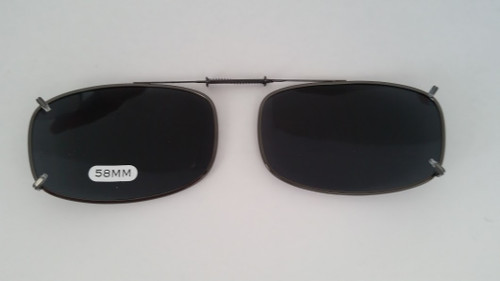 small oblong adjustable clip-on polarized smoke 58mm