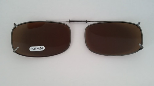 small oblong adjustable clip-on sunglasses 58mm