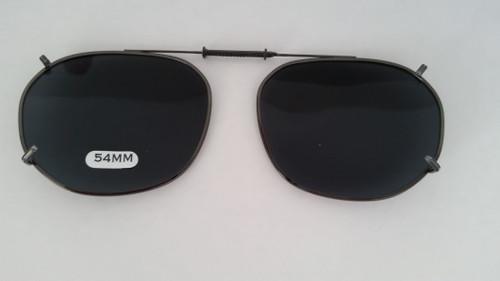 medium adjustable oblong clip on sunglasses 54mm
