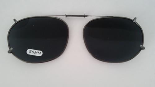 medium oblong adjustable clip-on polarized 56mm