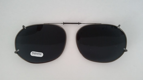 Large Oblong Adjustable Clip-On Sunglasses 58mm