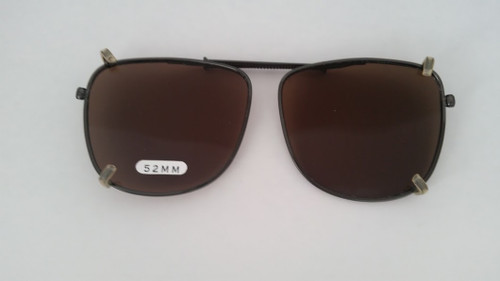 small pilot style clip on sunglasses 52mm