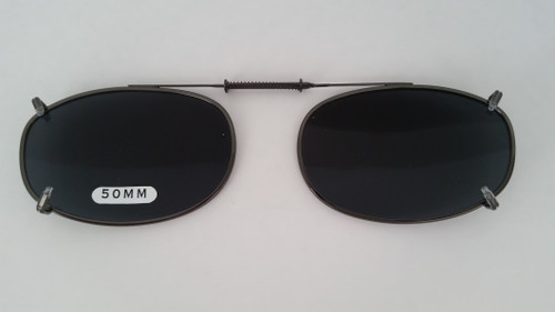 small oval clip-on polarized sunglasses 50mm