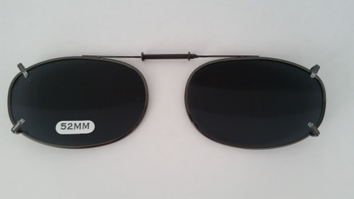 small oval Polarized Clip-On sunglasses 52mm