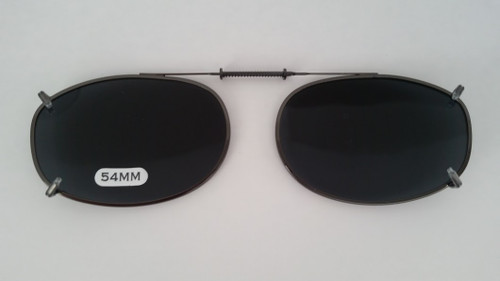 small oval clip-On Polarized sunglasses 54mm