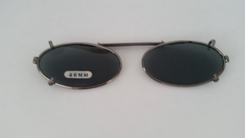 small elongated oval clip-on sunglasses 46mm