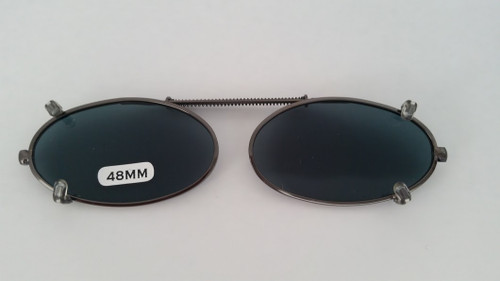 small elongated oval clip-on sunglasses 48mm