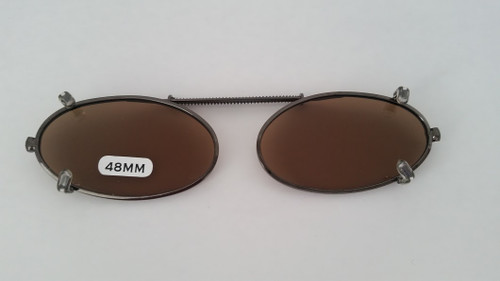 small elongated oval clip-on polarized 48mm
