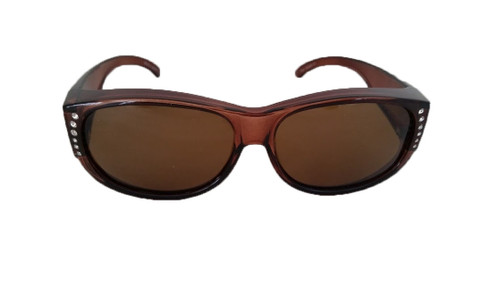 polarized fit over sunglasses brown