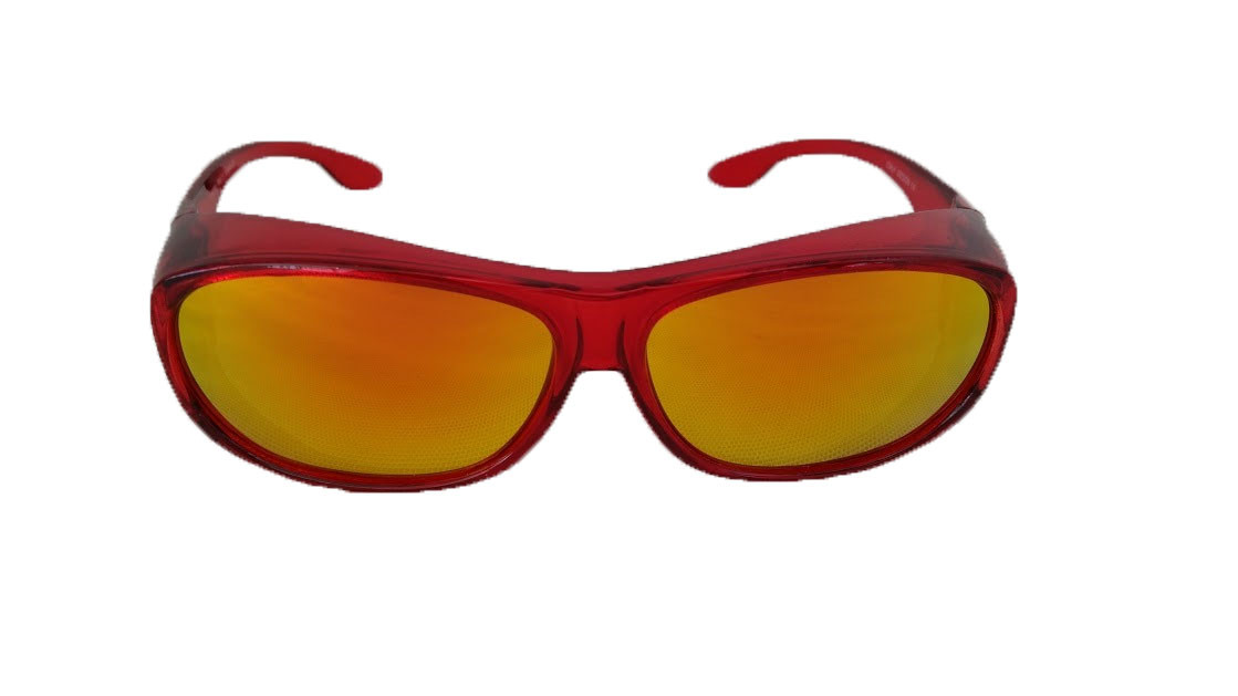 Polarized Sunglasses Over Lenses Glasses Mirrored Red XnOP0wk8