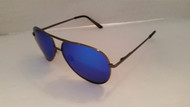 polarized blue mirrored aviator sunglasses