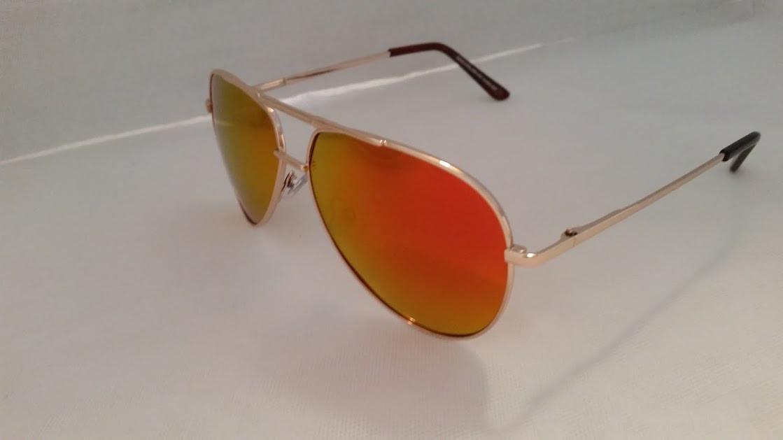 bb9d1092f12 Polarized Orange Mirrored Aviator Sunglasses - EyeNeeds