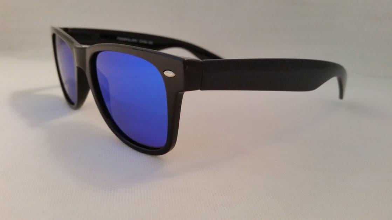 903c31632af Polarized Blue Mirrored WF Style Sunglasses - EyeNeeds