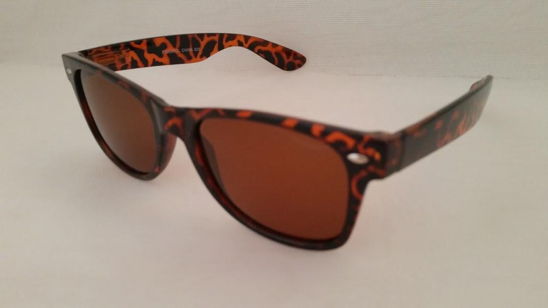 6fac1fc15c3f Polarized Large Retro Sunglasses Tortoise Amber - EyeNeeds