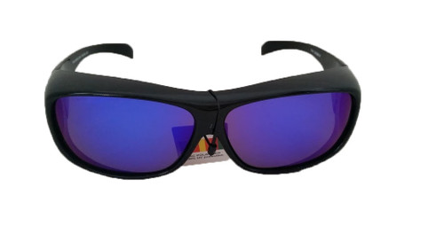 polarized blue mirror large  fit over sunglasses