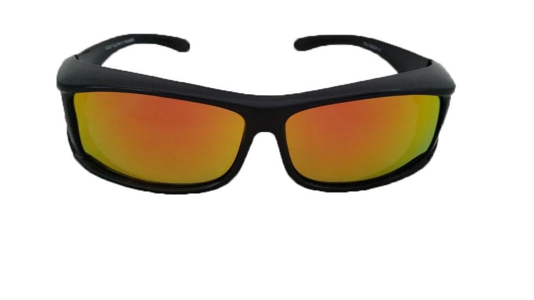 5bebd0ee8e12 Over Glasses Polarized Sunglasses Gold Mirrored Lenses (Rectangular ...