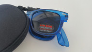 folding wayfarer style sunglasses/blue BLUE