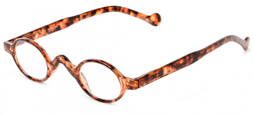 Harper Small Oval Retro Reading Glasses Tortoise