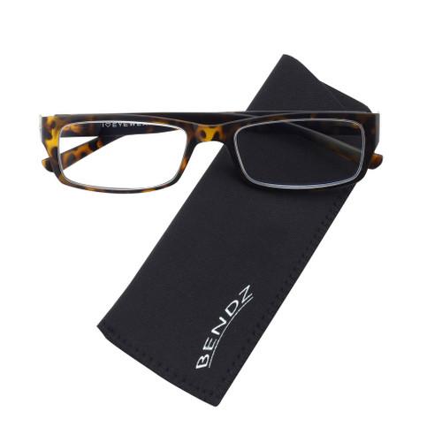 Bendz Flexible Plastic Tortoise Men's Reading Glasses