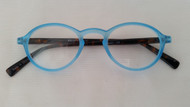Lizzie Oval  Plastic Womens Reading Glasses/Blue