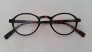 Lizzie Oval  Plastic Womens Reading Glasses/Blue TORTOISE