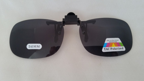 Oval/Oblong Polarized Flip Up Sunglasses smoke