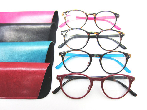 plastic oval bifocal style reading glasses