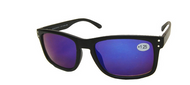 sun reader with blue mirrored lenses