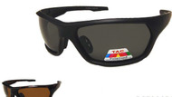 Polarized plastic wrap sports sunglasses