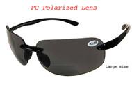 2291cb63907c4 PC Polarized wrap bifocal sunglasses