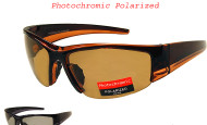 Polarized photocromic sports sunglasses