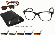 Bifocal Readers with Polarized Magnetic Clip Ons