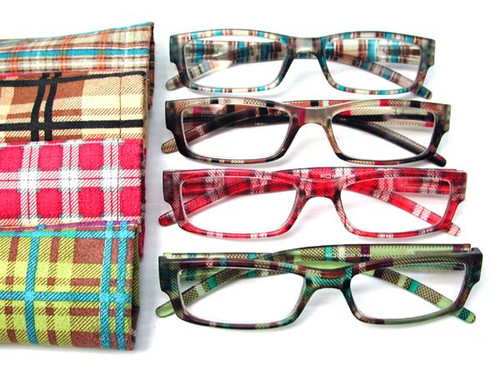Mod Women's Plaid reading glasses