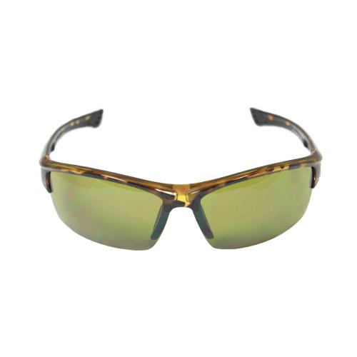 Full Tortoise wrap sports sunglasses green golf poly carbonate  UV450