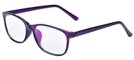 Women's Bifocal plastic reading glasses purple