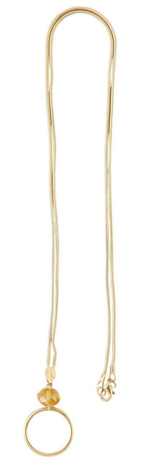 Gold snake chain ID Holder